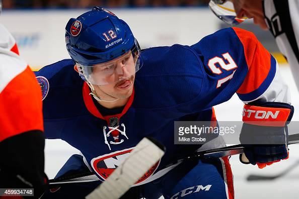 Josh Bailey of the New York Islanders skates against the Philadelphia Flyers at Nassau Veterans Memorial Coliseum on November 24 2014 in Uniondale...