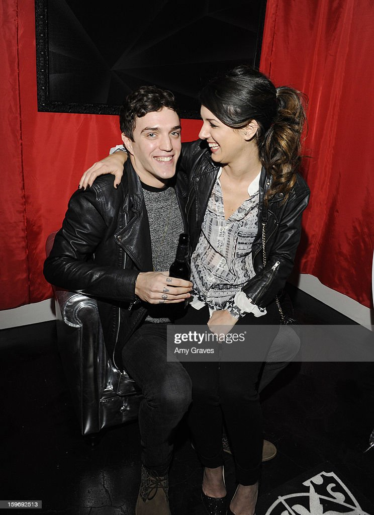 Josh Beach and Shenae Grimes attend the Beck's Sapphire Launch Event on January 17, 2013 in Beverly Hills, California.
