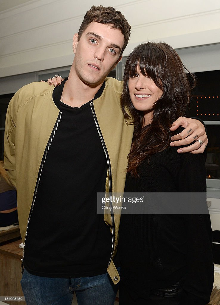Josh Beech and actress Shenae Grimes attend a dinner for Gareth Pugh hosted by Chrome Hearts at Malibu Farm on October 10, 2013 in Malibu, California.