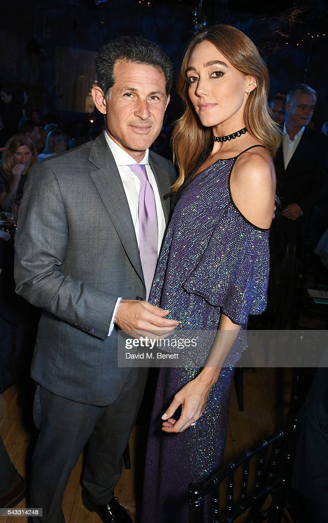 Josh Berger (L) and <a gi-track='captionPersonalityLinkClicked' href=/galleries/search?phrase=Jacqui+Ainsley&family=editorial&specificpeople=209223 ng-click='$event.stopPropagation()'>Jacqui Ainsley</a> attend the Summer Gala for The Old Vic at The Brewery on June 27, 2016 in London, England.