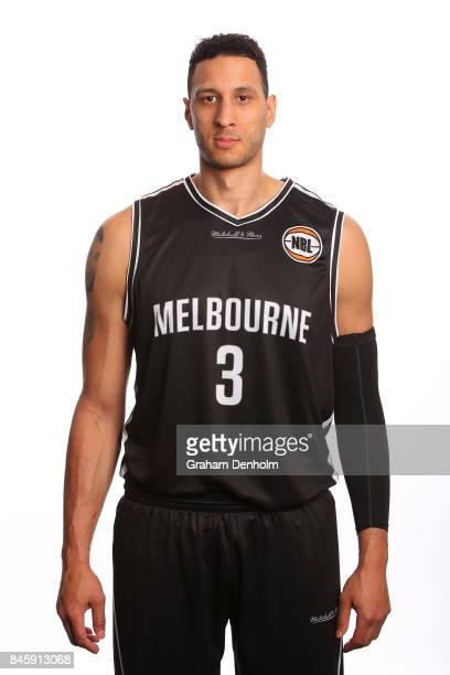 Josh Boone of Melbourne United poses during the 2017/18 NBL Media Day at Crown Entertainment Complex on September 11 2017 in Melbourne Australia