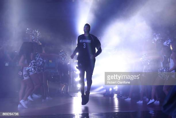 Josh Boone of the Melbourne United runs out for the round five NBL match between Melbourne United and the Cairns Taipans at Hisense Arena on November...
