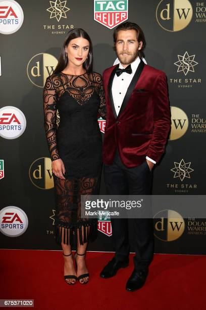 Josh Brilliante and Lucy Brilliante arrive ahead of the FFA Dolan Warren Awards at The Star on May 1 2017 in Sydney Australia