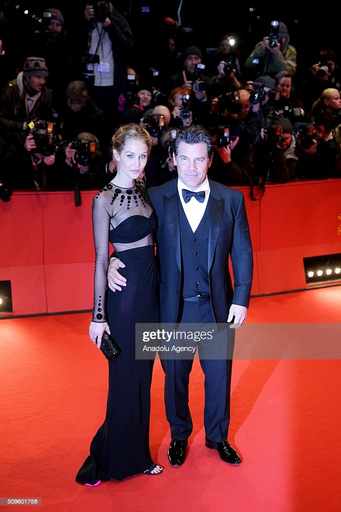 Josh Brolin (R) and Kathryn Boyd (L) attend the 'Hail, Caesar!' premiere during the 66th Berlinale International Film Festival Berlin at Berlinale Palace in Berlin, Germany on February 11, 2016.