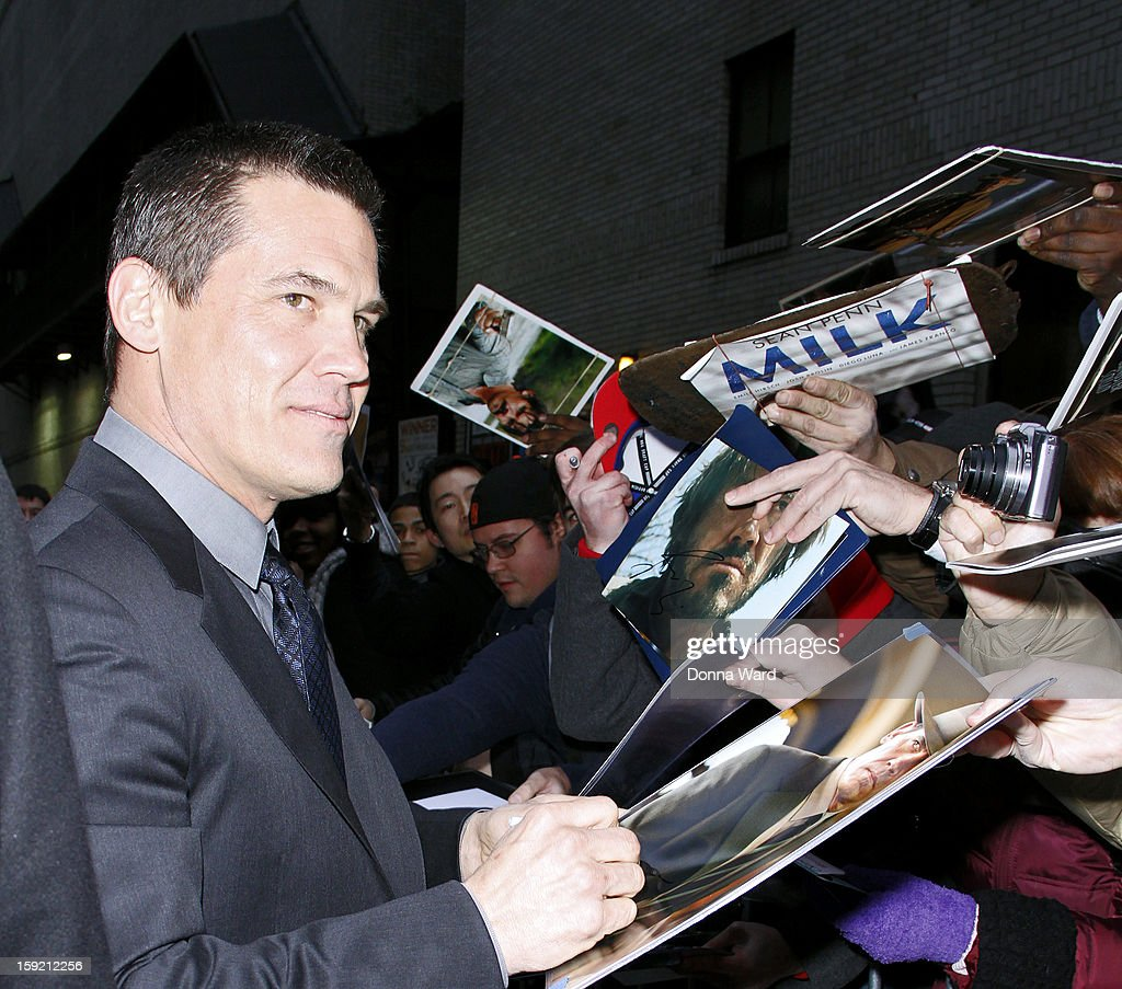 <a gi-track='captionPersonalityLinkClicked' href=/galleries/search?phrase=Josh+Brolin&family=editorial&specificpeople=243198 ng-click='$event.stopPropagation()'>Josh Brolin</a> arrives for 'The Late Show with David Letterman' at Ed Sullivan Theater on January 9, 2013 in New York City.