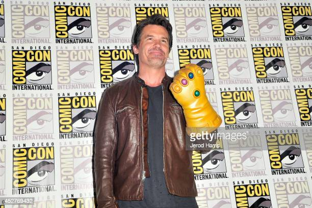 Josh Brolin attends Marvel's press line during ComicCon International 2014 at San Diego Convention Center on July 26 2014 in San Diego California