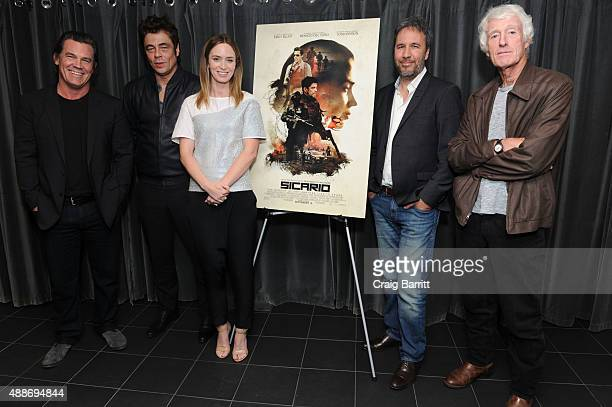 Josh Brolin Benicio Del Toro Emily Blunt Roger Deakins and Denis Villeneuve attend the Official Academy screening of SICARIO hosted by the Academy of...