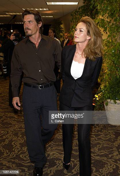 Josh Brolin Diane Lane during 2003 Women In Film Crystal Lucy Awards Show at Century Plaza Hotel in Los Angeles California United States