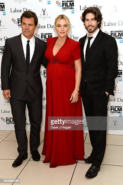 Josh Brolin Kate Winslet and Jason Reitman attend the premiere of 'Labor Day' during the 57th BFI London Film Festival at The Odeon Leicester Square...