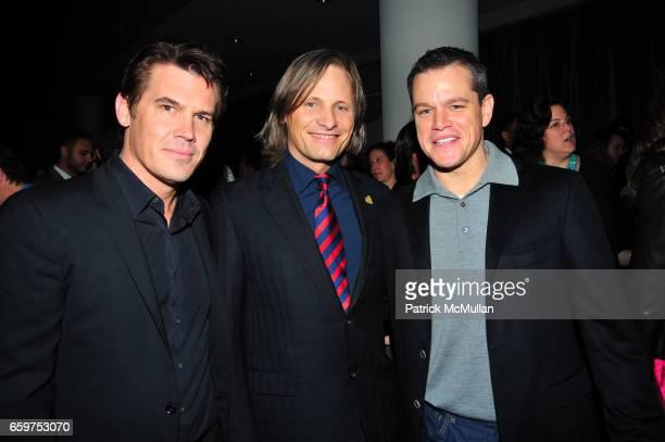 Josh Brolin Viggo Mortensen and Matt Damon attend HISTORY hosts preview of THE PEOPLE SPEAK at Jazz at Lincon Center Rose theater NYC on November 19...
