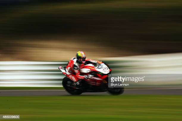 Josh Brookes of Australia and Milwaukee Yamaha in action during race two of the MCE British Superbike Championship at Cadwell Park on August 23 2015...