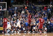 Josh Brown of the Temple Owls shoots the game winning shot against the Memphis Tigers on February 7 2015 at FedExForum in Memphis Tennessee Temple...