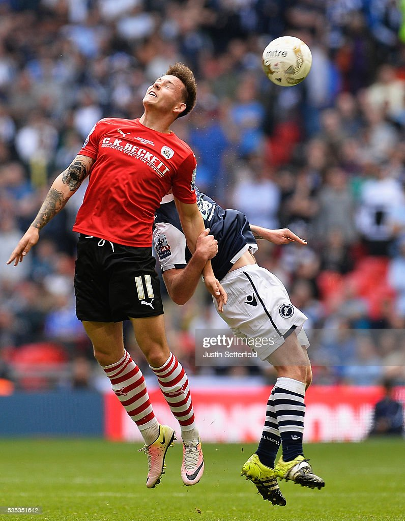 Josh Brownhill of Barnsley FC during the Sky Bet League One Play Off Final between Barnsley and Millwall at Wembley Stadium on May 29, 2016 in London, England.