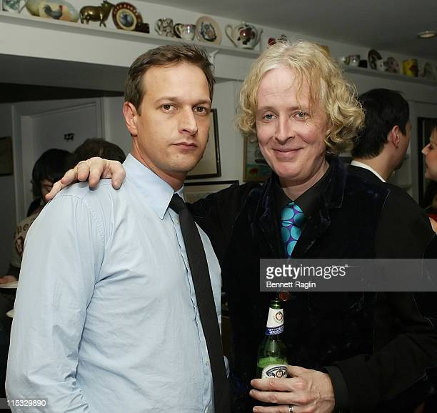Josh Charles and Paul Cantelon during New York Magazine and nymagcom's 2nd Annual Oscar Viewing Party at The Spotted Pig in New York City New York...