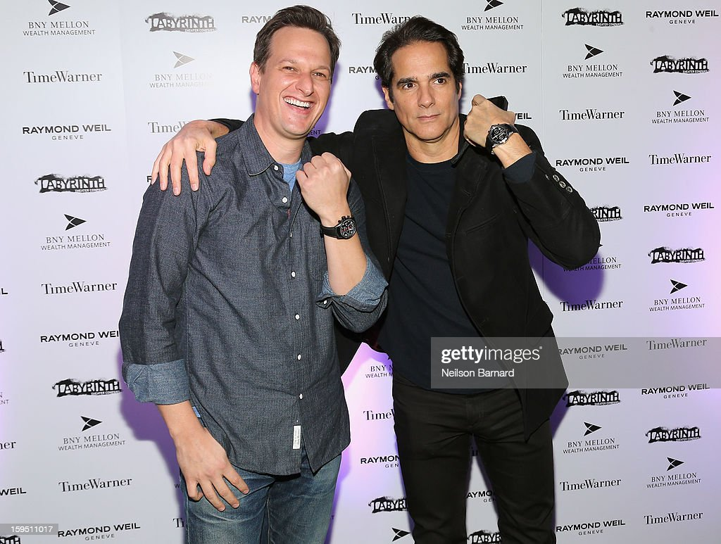 <a gi-track='captionPersonalityLinkClicked' href=/galleries/search?phrase=Josh+Charles&family=editorial&specificpeople=240614 ng-click='$event.stopPropagation()'>Josh Charles</a> and <a gi-track='captionPersonalityLinkClicked' href=/galleries/search?phrase=Yul+Vazquez&family=editorial&specificpeople=2491110 ng-click='$event.stopPropagation()'>Yul Vazquez</a> attend LAByrinth Theater Company Celebrity Charades 2013 Benefit Gala at Capitale on January 14, 2013 in New York City.
