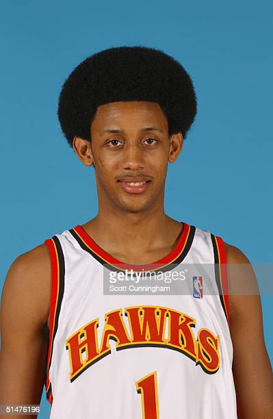 Josh Childress of the Atlanta Hawks poses for a portrait during NBA Media Day on October 4 2004 at Philips Arena in Atlanta Georgia NOTE TO USER User...