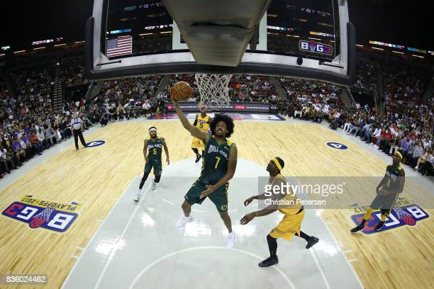 Josh Childress of the Ball Hogs attempts a lay up in front of Eddie Robinson of the Killer 3s in week nine of the BIG3 threeonthree basketball league...