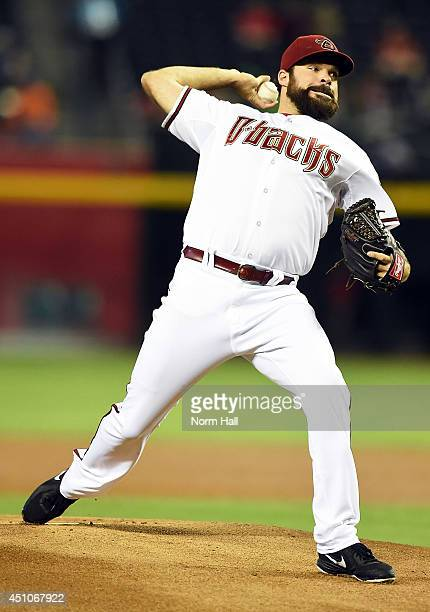 Josh Collmenter of the Arizona Diamondbacks delivers a pitch against the Houston Astros at Chase Field on June 9 2014 in Phoenix Arizona