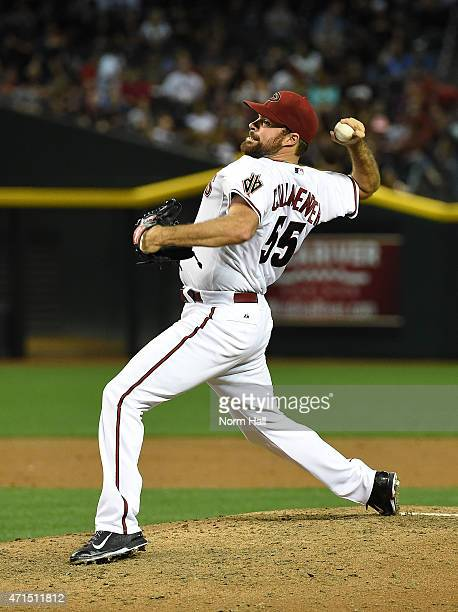 Josh Collmenter of the Arizona Diamondbacks delivers a pitch against the Pittsburgh Pirates at Chase Field on April 24 2015 in Phoenix Arizona