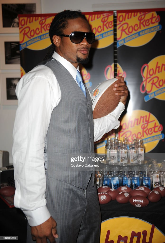 Josh Cribbs of the Cleveland Browns attends the GBK Gift Lounge at Player's Press PreSuper Bowl Party at Sagamore Hotel on February 3 2010 in Miami...