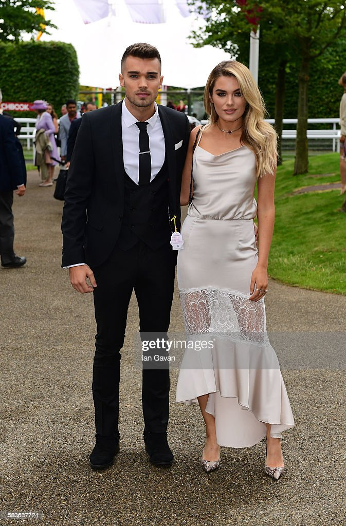 Josh Cuthbert and Chloe Lloyd attend the Qatar Goodwood Festival 2016 at Goodwood on July 27 2016 in Chichester England