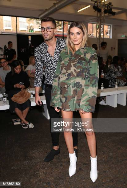 Josh Cuthbert and Chloe Lloyd attend the 'Streets of EQT' a street style presentation to celebrate Hailey Baldwin's new Adidas EQT campaign during...
