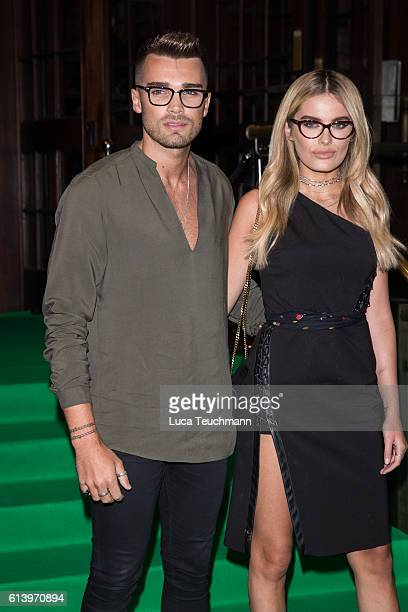 Josh Cuthbert and Chloe Lloyd attends the Spectacle Wearer of the Year awards on October 11 2016 in London England