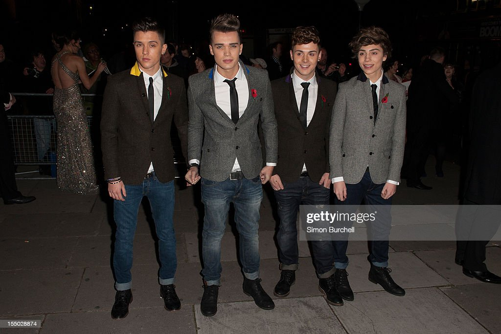 Josh Cuthbert, Jaymi Hensley, JJ Hamblett and George Shelly of Union J attend the Cosmopolitan Ultimate Woman of the Year awards at Victoria & Albert Museum on October 30, 2012 in London, England.