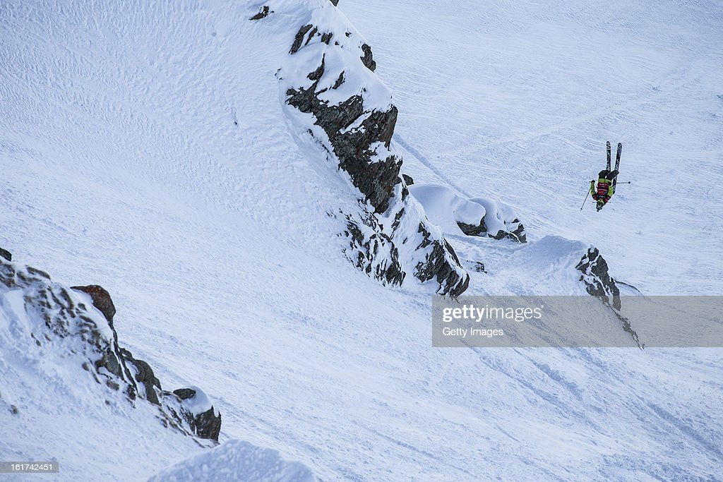 Josh Daiek from the USA and Team Americas competes during day 5 of the Swatch Skiers Cup on February 14, 2013 in Zermatt, Switzerland.
