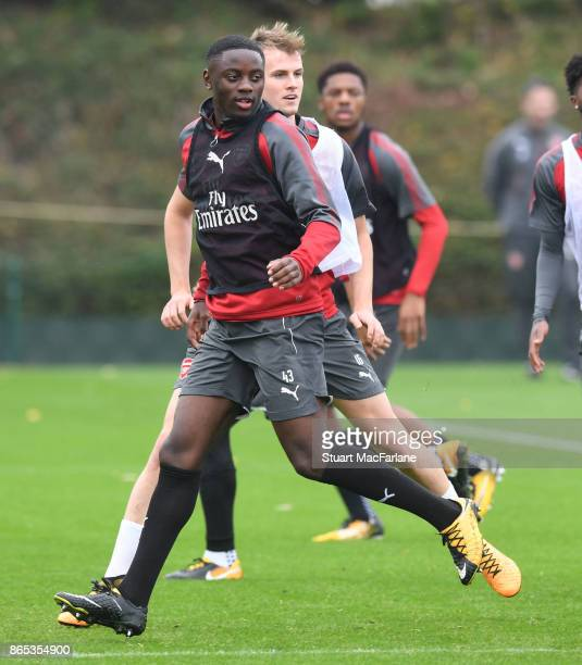 Josh Dasilva of Arsenal during a training session at London Colney on October 23 2017 in St Albans England