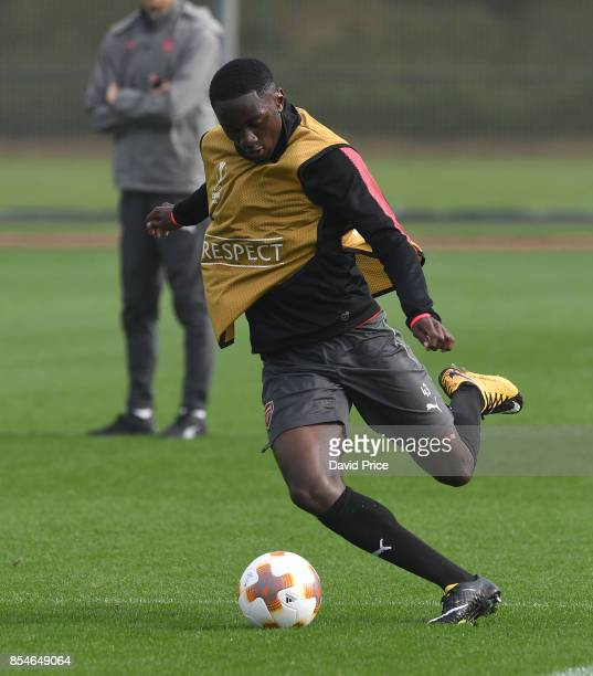 Josh Dasilva of Arsenal during the Arsenal Training Session at London Colney on September 27 2017 in St Albans England