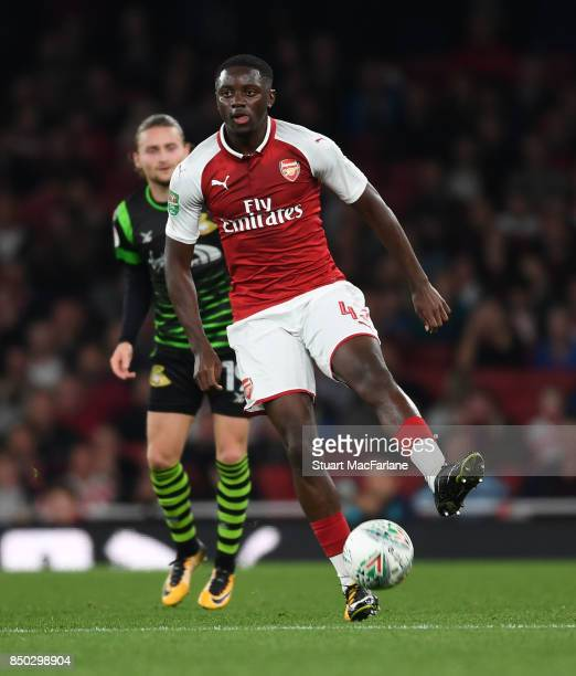 Josh Dasilva of Arsenal during the Carabao Cup Third Round match between Arsenal and Doncaster Rovers at Emirates Stadium on September 19 2017 in...