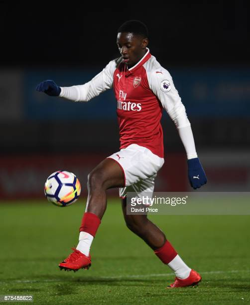 Josh Dasilva of Arsenal during the match between Arsenal U23 and Porto at Meadow Park on November 17 2017 in Borehamwood England