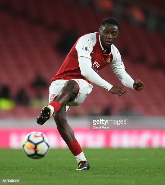 Josh Dasilva of Arsenal during the Premier League 2 match between Arsenal and Sunderland at Emirates Stadium on October 16 2017 in London England