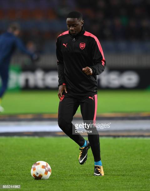 Josh Dasilva of Arsenal warms up before the UEFA Europa League group H match between BATE Borisov and Arsenal FC at BorisovArena on September 28 2017...