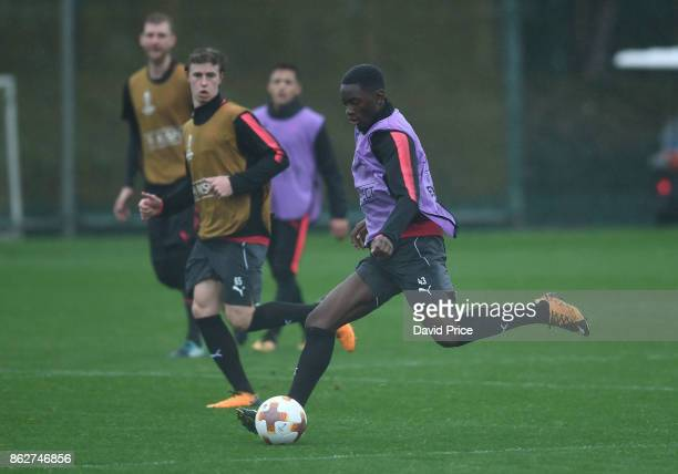 Josh Dasliva of Arsenal during the Arsenal Training Session at London Colney on October 18 2017 in St Albans England