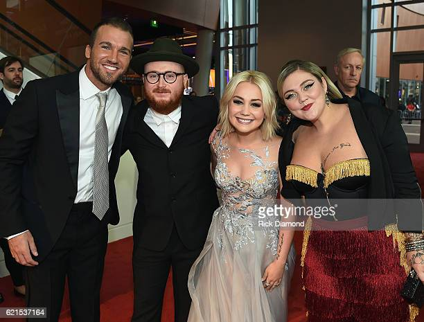 Josh Davis Andrew 'Fergie' Ferguson RaeLynn and Elle King attend the 50th annual CMA Awards at the Bridgestone Arena on November 2 2016 in Nashville...