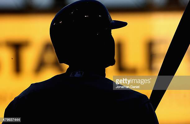 Josh Donaldson of the Toronto Blue Jays prepares to bat against the Chicago White Sox at US Cellular Field on July 7 2015 in Chicago Illinois
