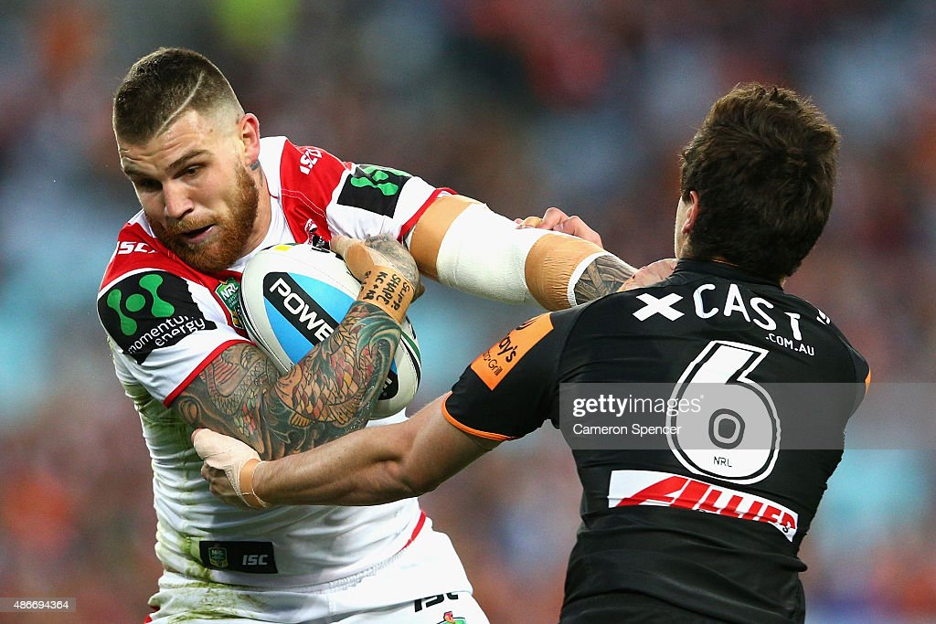 NRL Rd 26 - Dragons v Wests Tigers