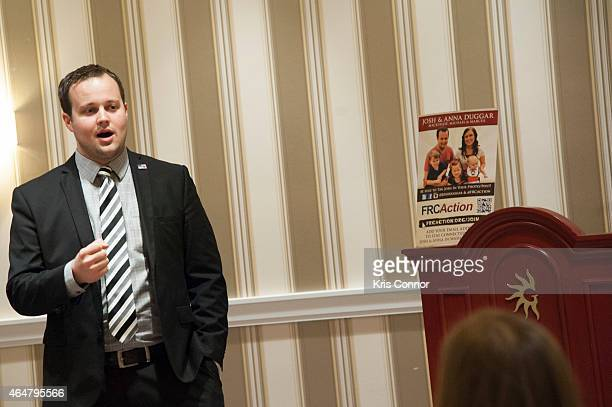 Josh Duggar speaks during the 42nd annual Conservative Political Action Conference at the Gaylord National Resort Hotel and Convention Center on...
