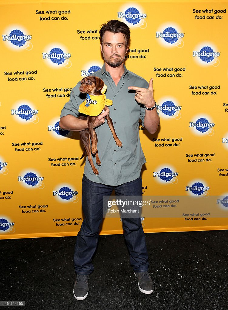 <a gi-track='captionPersonalityLinkClicked' href=/galleries/search?phrase=Josh+Duhamel&family=editorial&specificpeople=208740 ng-click='$event.stopPropagation()'>Josh Duhamel</a> And David Ortiz Team Up With Pedigree To Launch New Storytelling Campaign At 2014 Sundance Film Festival at Haven at The Sky Lodge on January 20, 2014 in Park City, Utah.