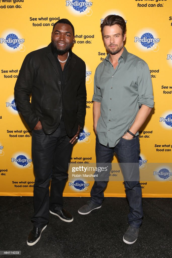 Josh Duhamel And David Ortiz (L) Team Up With Pedigree To Launch New Storytelling Campaign At 2014 Sundance Film Festival at Haven at The Sky Lodge on January 20, 2014 in Park City, Utah.