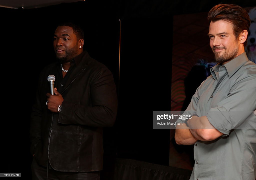 Josh Duhamel And David Ortiz with Tierney Monaco Team Up With Pedigree To Launch New Storytelling Campaign At 2014 Sundance Film Festival at Haven at The Sky Lodge on January 20, 2014 in Park City, Utah.