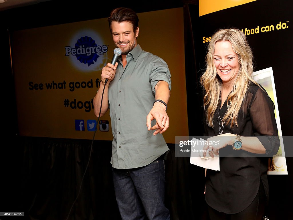 <a gi-track='captionPersonalityLinkClicked' href=/galleries/search?phrase=Josh+Duhamel&family=editorial&specificpeople=208740 ng-click='$event.stopPropagation()'>Josh Duhamel</a> And <a gi-track='captionPersonalityLinkClicked' href=/galleries/search?phrase=David+Ortiz&family=editorial&specificpeople=175825 ng-click='$event.stopPropagation()'>David Ortiz</a> with Tierney Monaco Team Up With Pedigree To Launch New Storytelling Campaign At 2014 Sundance Film Festival at Haven at The Sky Lodge on January 20, 2014 in Park City, Utah.
