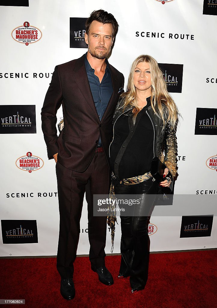 <a gi-track='captionPersonalityLinkClicked' href=/galleries/search?phrase=Josh+Duhamel&family=editorial&specificpeople=208740 ng-click='$event.stopPropagation()'>Josh Duhamel</a> and Fergie attend the premiere of 'Scenic Route' at Chinese 6 Theater Hollywood on August 20, 2013 in Hollywood, California.