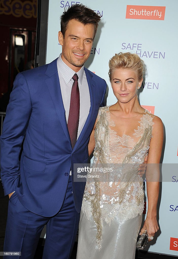Josh Duhamel and <a gi-track='captionPersonalityLinkClicked' href=/galleries/search?phrase=Julianne+Hough&family=editorial&specificpeople=4237560 ng-click='$event.stopPropagation()'>Julianne Hough</a> arrives at the 'Safe Haven' - Los Angeles Premiere at TCL Chinese Theatre on February 5, 2013 in Hollywood, California.