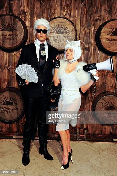 Josh Duhamel and Stacy Ann Ferguson attend the Casamigos Tequila Halloween Party Brought to you by Those Who Drink It at a private residence on...