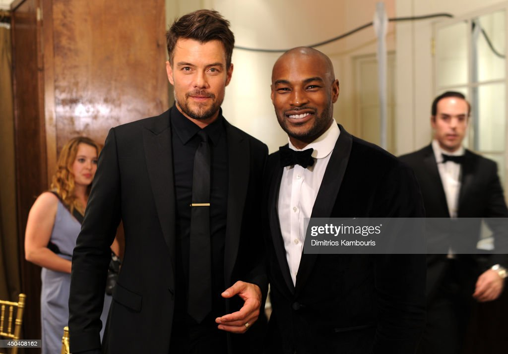 Josh Duhamel and Tyson Beckford attend the amfAR Inspiration Gala New York 2014 at The Plaza Hotel on June 10, 2014 in New York City.