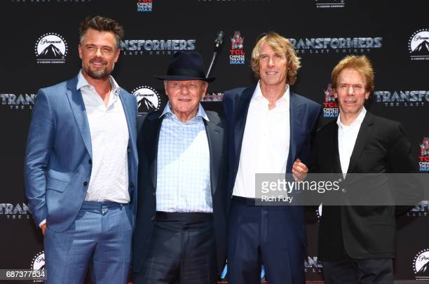 Josh Duhamel Anthony Hopkins Michael Bay and Jerry Bruckheimer attend the Michael Bay Hand and Footprint Ceremony at TCL Chinese Theatre IMAX on May...