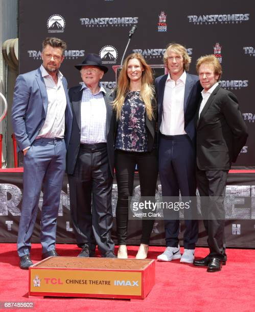 Josh Duhamel Anthony Hopkins Michael Bay and Jerry Bruckheimer attend Michael Bay's Hand And Footprint Ceremony at TCL Chinese Theatre IMAX on May 23...